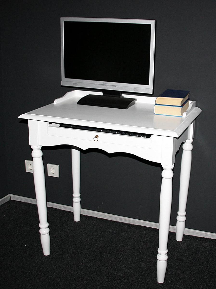 Pc Tisch Weiß Ikea ~  Computertisch PCTisch LaptopTisch Pappel massiv DECOR weiß lackiert