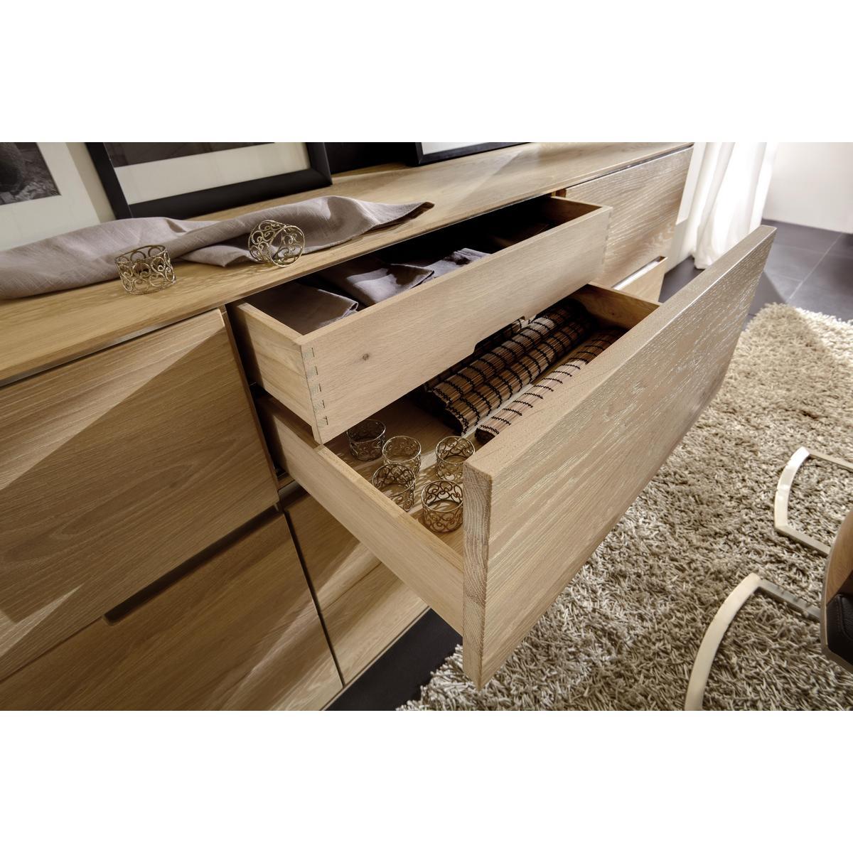 ZOOM · Massivholz Esszimmer Komplett Asteiche Massiv Gebürstet Bianco ...