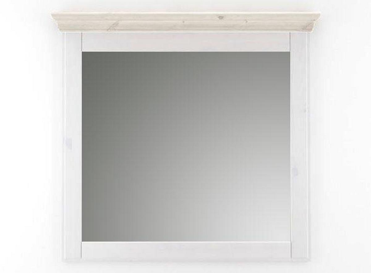 wandspiegel spiegel schlafzimmerspiegel 100x100 wei holz kiefer neapel. Black Bedroom Furniture Sets. Home Design Ideas