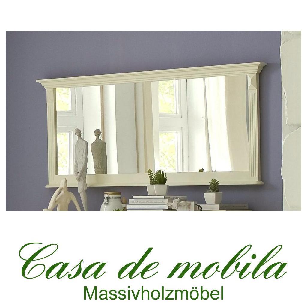 landhaus spiegel wandspiegel champagner lackiert 155x70 paris kiefer massiv. Black Bedroom Furniture Sets. Home Design Ideas