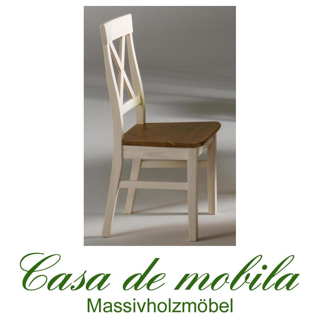 Stühle weiß landhaus  Landhaus Stuhl Stuhl Küchenstuhl Stühle weiß lackiert / gebeizt ...