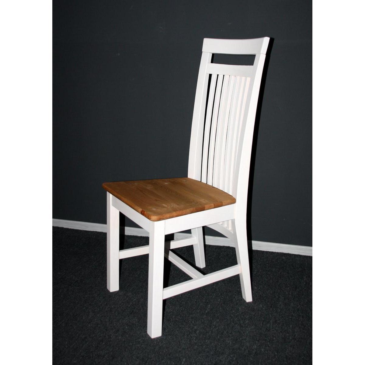 massivholz stuhl boston kiefer massiv 2 farbig wei lackiert gebeizt ge lt. Black Bedroom Furniture Sets. Home Design Ideas