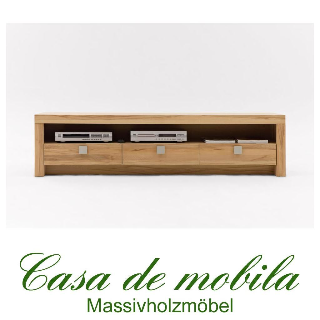 massivholz tv lowboard tv kommode holz kernbuche massiv geolt messina