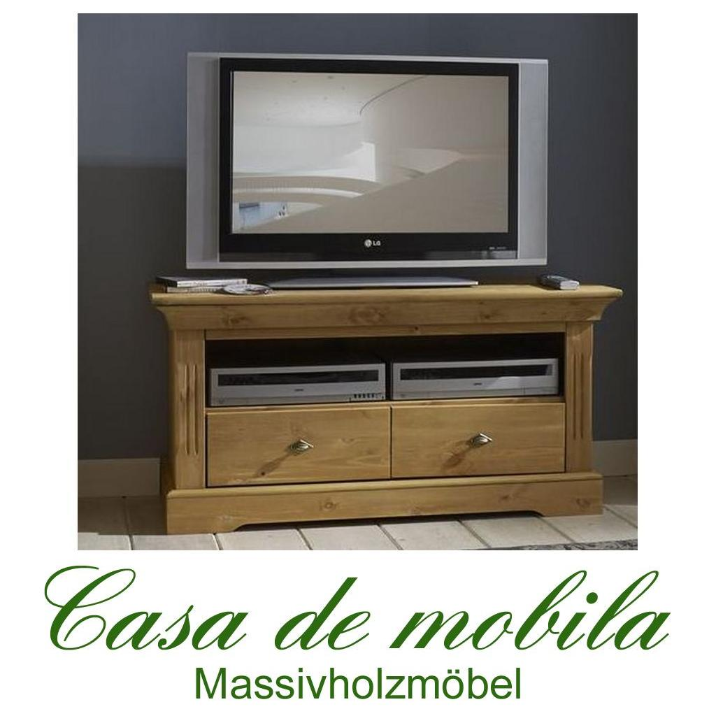 landhausstil tv lowboard tv kommode holz kiefer massiv. Black Bedroom Furniture Sets. Home Design Ideas