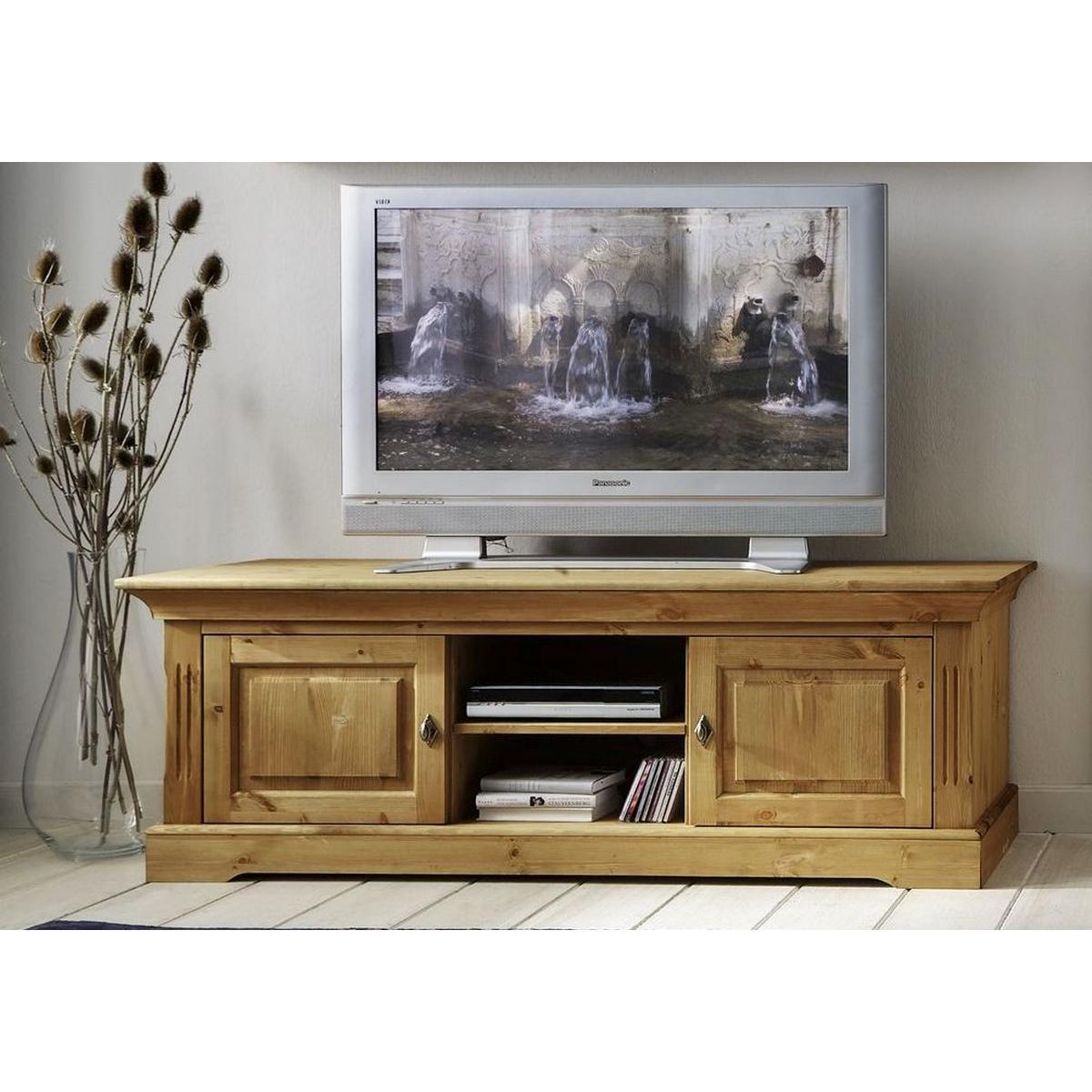 TV Board 2-teilig Kiefer massiv gelaugt geölt Landhaus WINDSOR