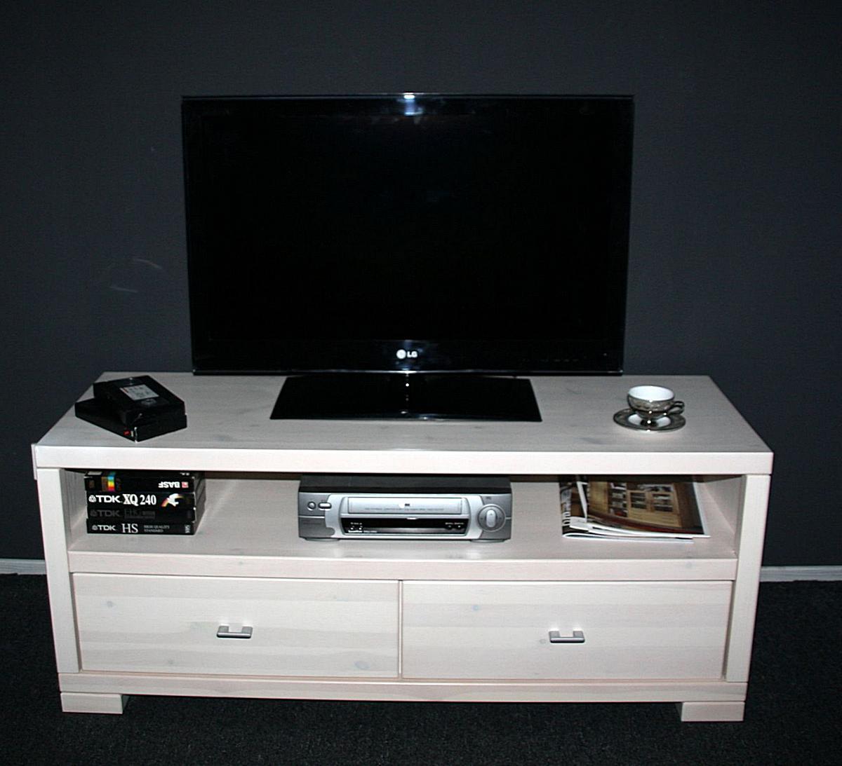 massivholz tv lowboard 120 guldborg kiefer massiv wei. Black Bedroom Furniture Sets. Home Design Ideas
