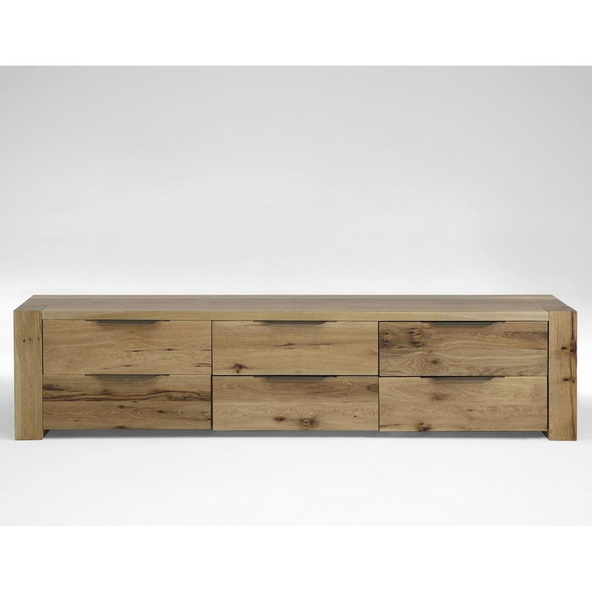 massivholz w schekommode mit 6 schubladen heavy sleep balkeneiche massiv natur ge lt. Black Bedroom Furniture Sets. Home Design Ideas