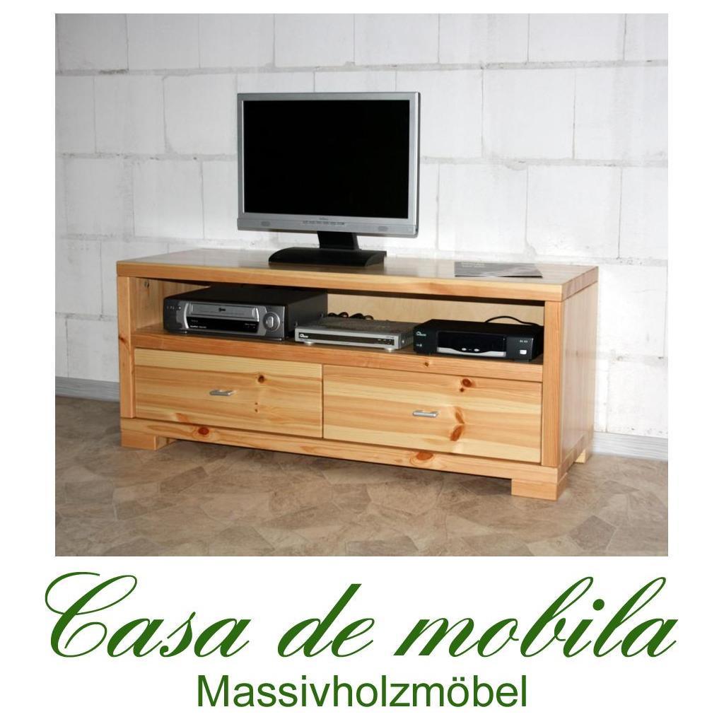tv tisch lowboard 120 guldborg kiefer massiv natur lackiert. Black Bedroom Furniture Sets. Home Design Ideas
