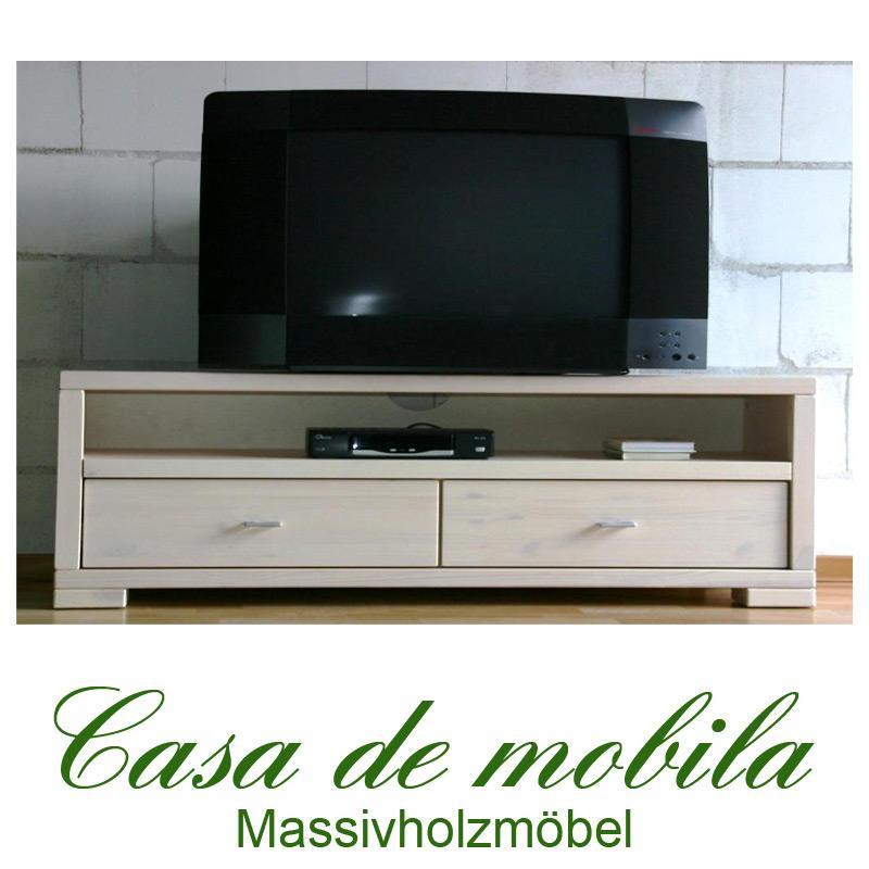 massivholz tv lowboard 160 guldborg kiefer massiv wei lasiert. Black Bedroom Furniture Sets. Home Design Ideas
