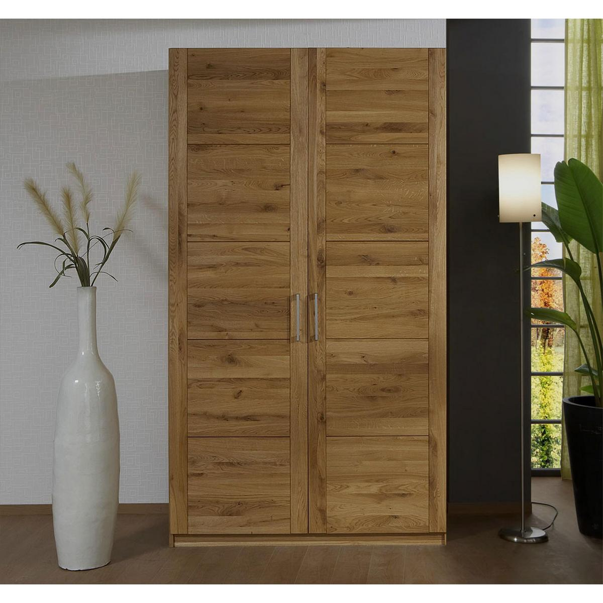 echtholz kleiderschrank eiche 2 t rig quattra wildeiche massiv ge lt bei casa de mobila. Black Bedroom Furniture Sets. Home Design Ideas