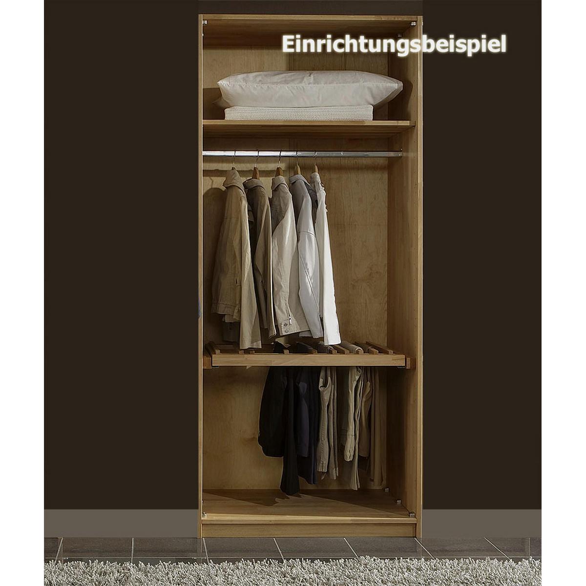 Echtholz Kleiderschrank eiche 2-türig Quattra - Wildeiche massiv ...