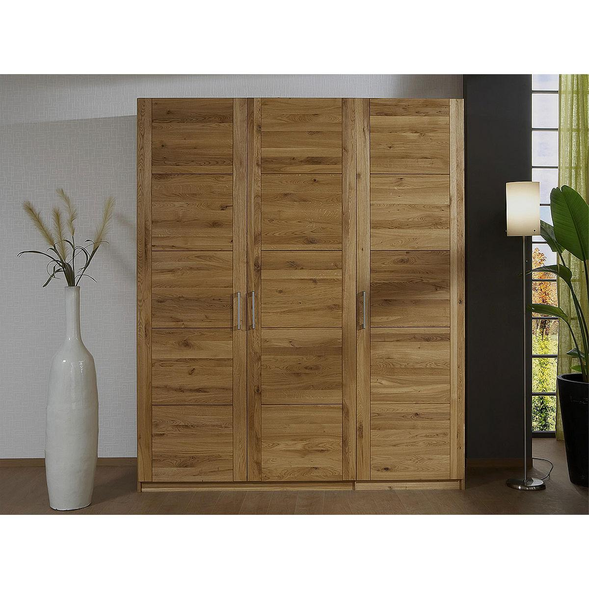 echtholz kleiderschrank eiche 3 t rig quattra wildeiche massiv ge lt bei casa de mobila. Black Bedroom Furniture Sets. Home Design Ideas