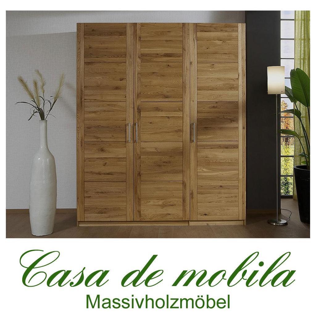 Echtholz kleiderschrank eiche 3 t rig quattra wildeiche for Kinderzimmer vollholz