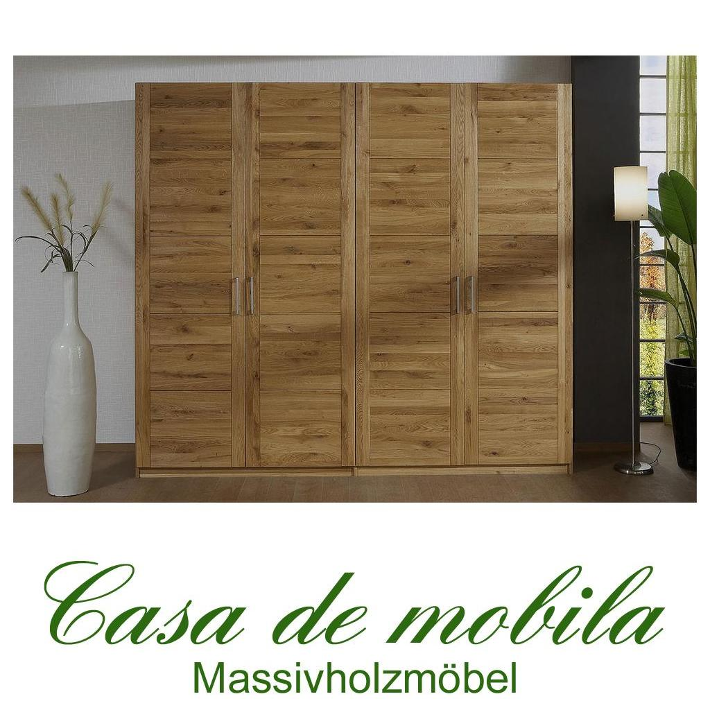 echtholz kleiderschrank eiche 4 t rig quattra wildeiche massiv ge lt bei casa de mobila. Black Bedroom Furniture Sets. Home Design Ideas
