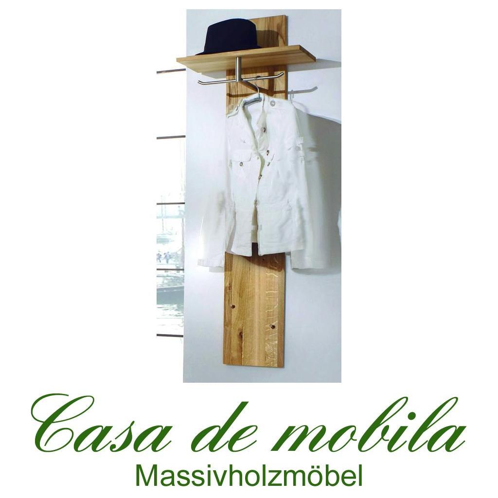 Garderobe wandpaneel holz wildeiche natur ge lt take it for Garderobe natur