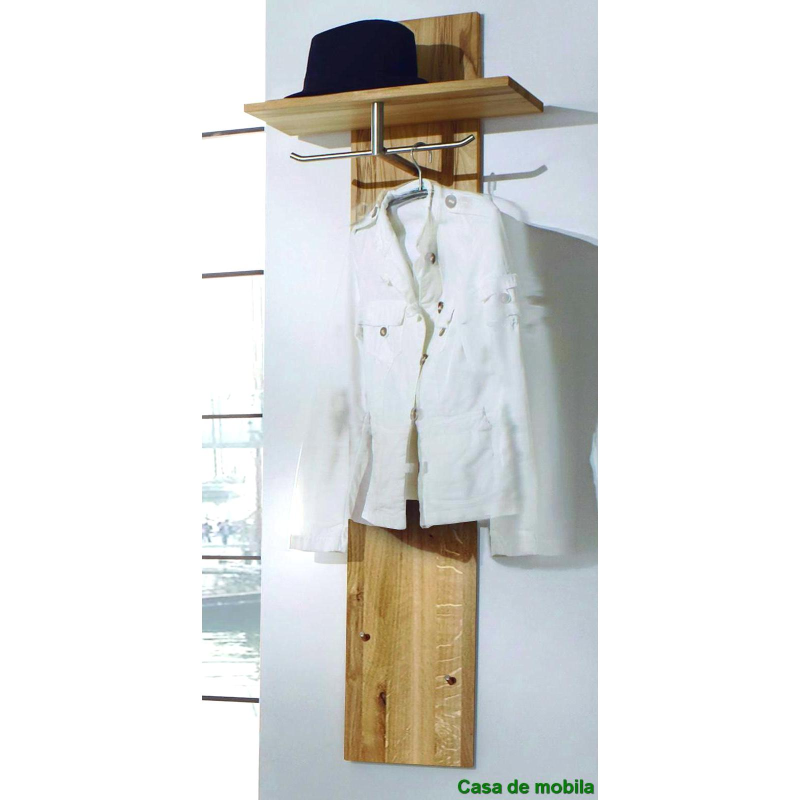 Garderobe wandpaneel holz wildeiche natur ge lt take it for Garderobe komplett programme