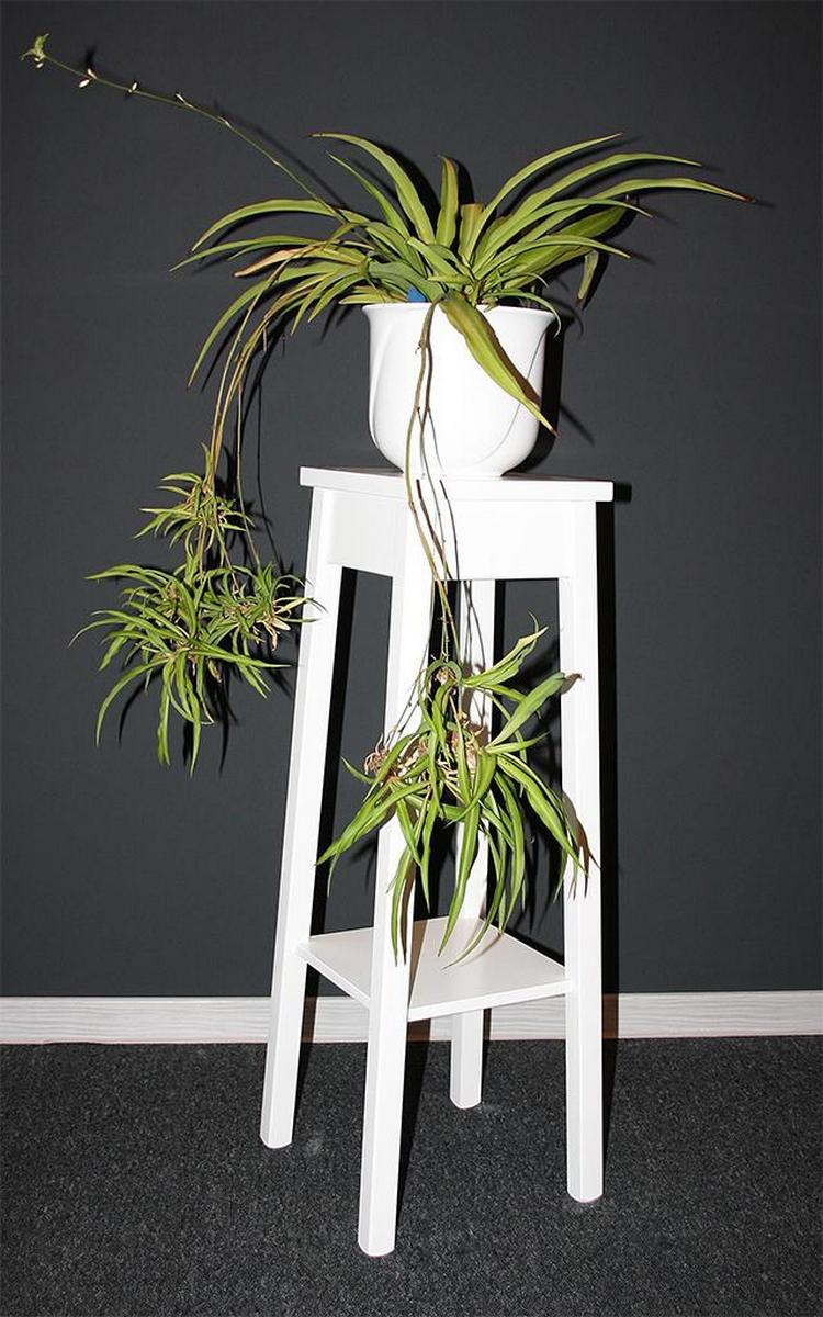 klassische blumentisch blumenhocker wei lackiert 80 cm. Black Bedroom Furniture Sets. Home Design Ideas