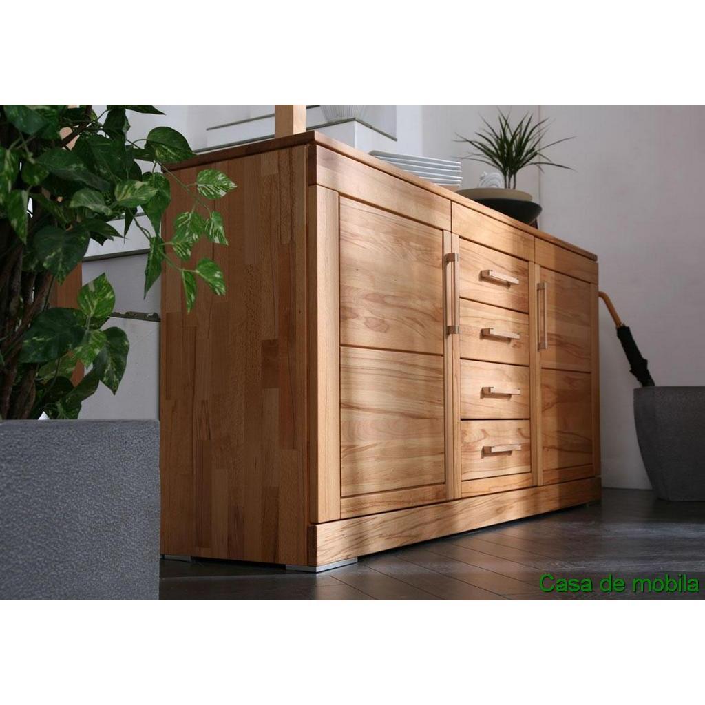massivholz sideboard anrichte rotkernbuche massiv natur. Black Bedroom Furniture Sets. Home Design Ideas