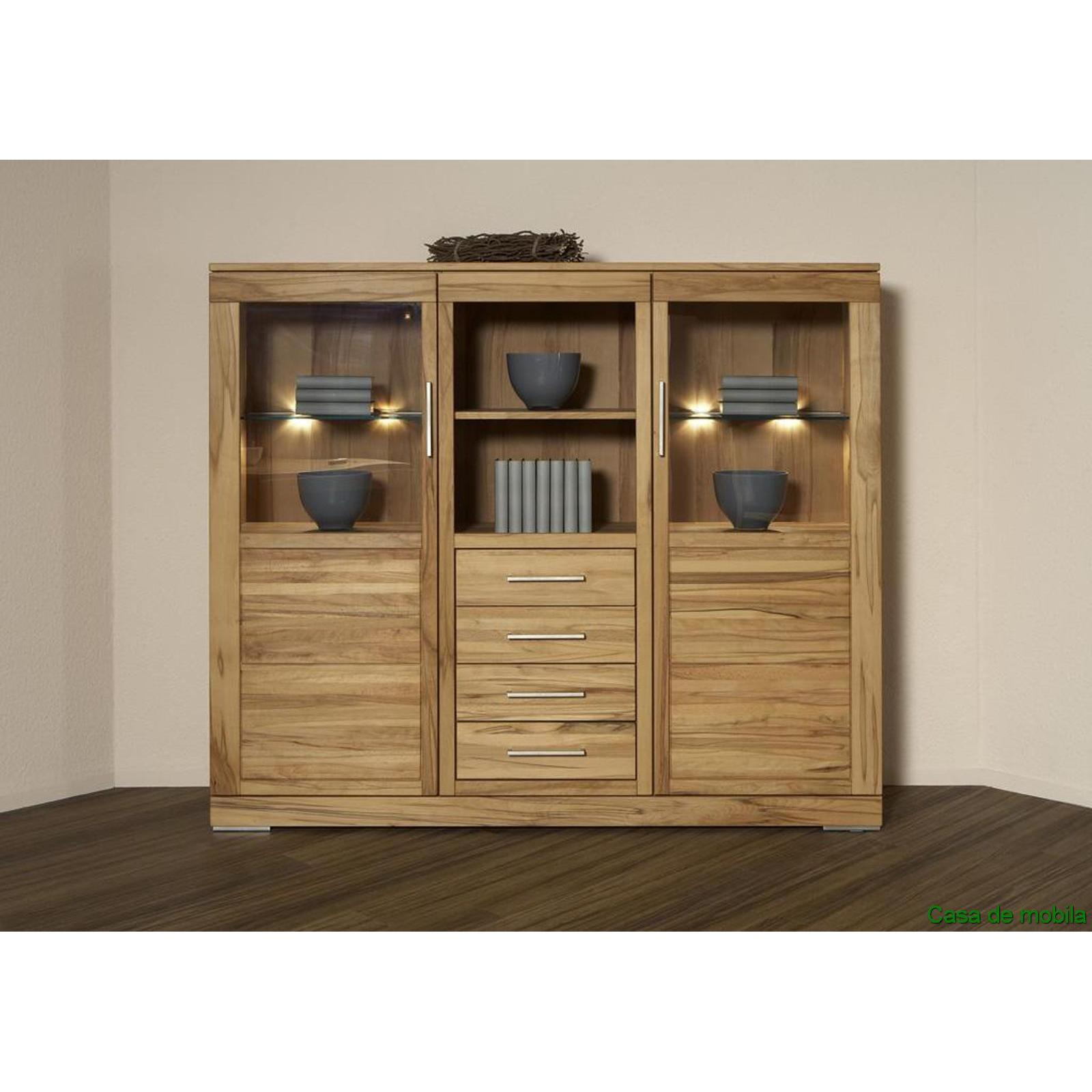 esszimmerschrank highboard massiv natur ge lt casera. Black Bedroom Furniture Sets. Home Design Ideas