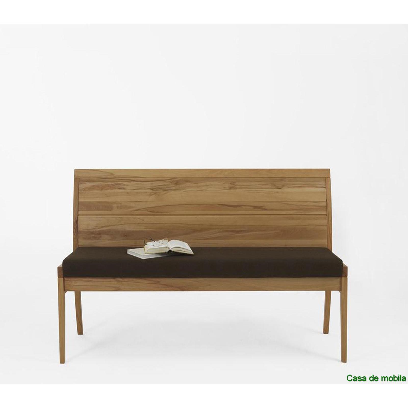bank mit r ckenlehne bank 130 cm kernbuche massiv natur. Black Bedroom Furniture Sets. Home Design Ideas