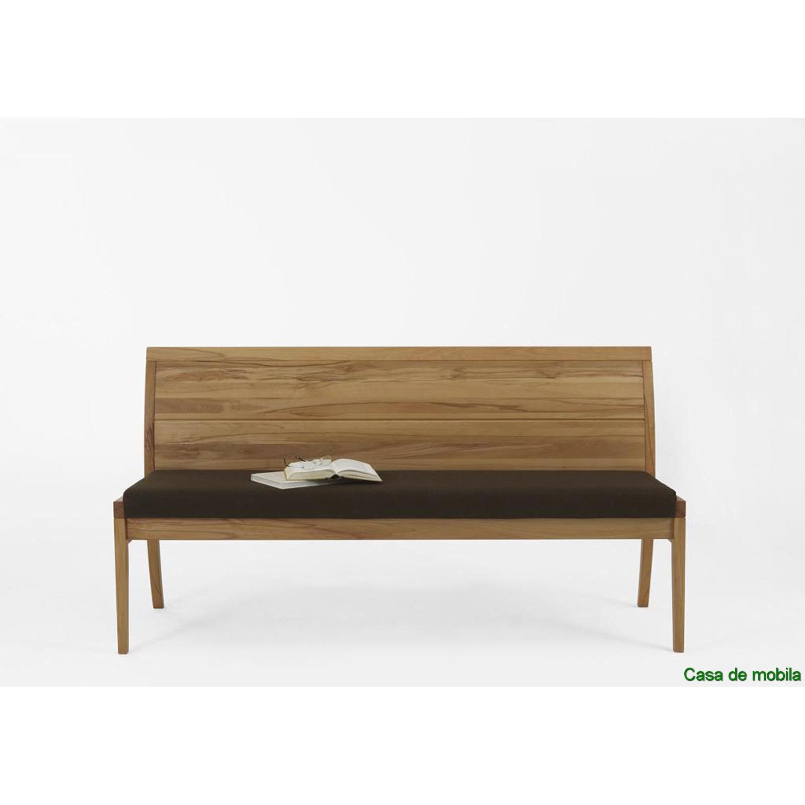 bank mit r ckenlehne bank 170 cm kernbuche massiv natur ge lt casera. Black Bedroom Furniture Sets. Home Design Ideas