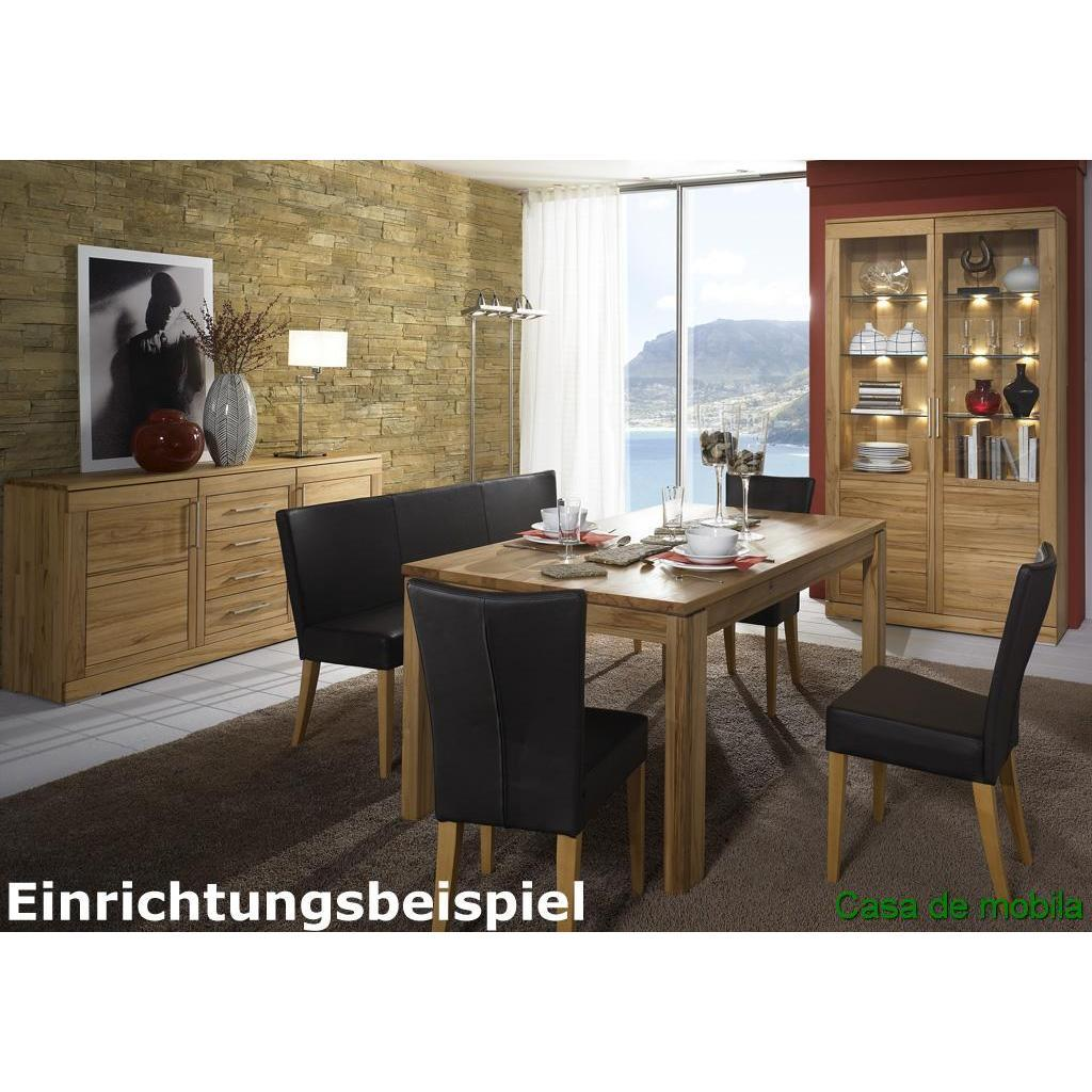 wohnzimmer vitrine glasvitrine holz rotkernbuche massiv natur ge lt casera. Black Bedroom Furniture Sets. Home Design Ideas