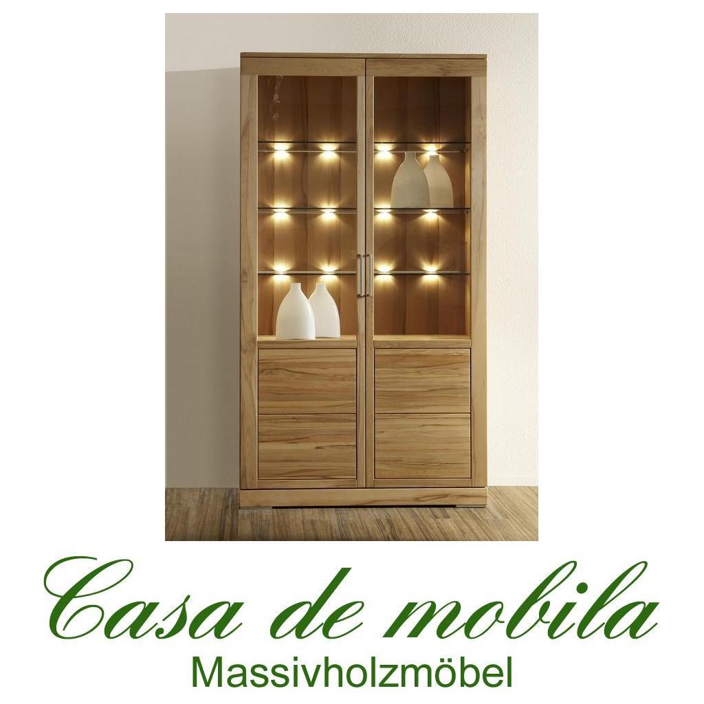 esszimmer vitrine rotkernbuche massiv natur ge lt casera mehrzweckvitrine. Black Bedroom Furniture Sets. Home Design Ideas