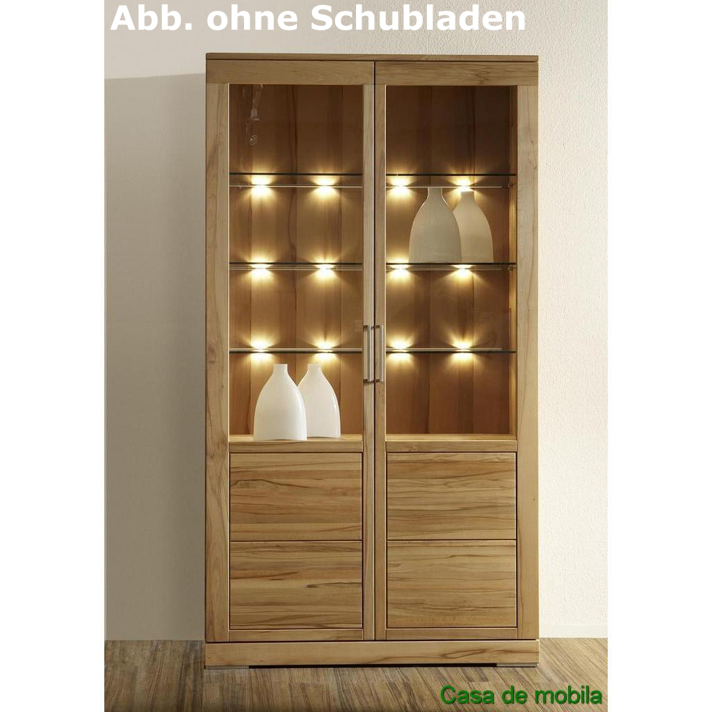 massivholz vitrine buche massiv natur ge lt casera mehrzweckvitrine i kernbuche rotkernbuche. Black Bedroom Furniture Sets. Home Design Ideas