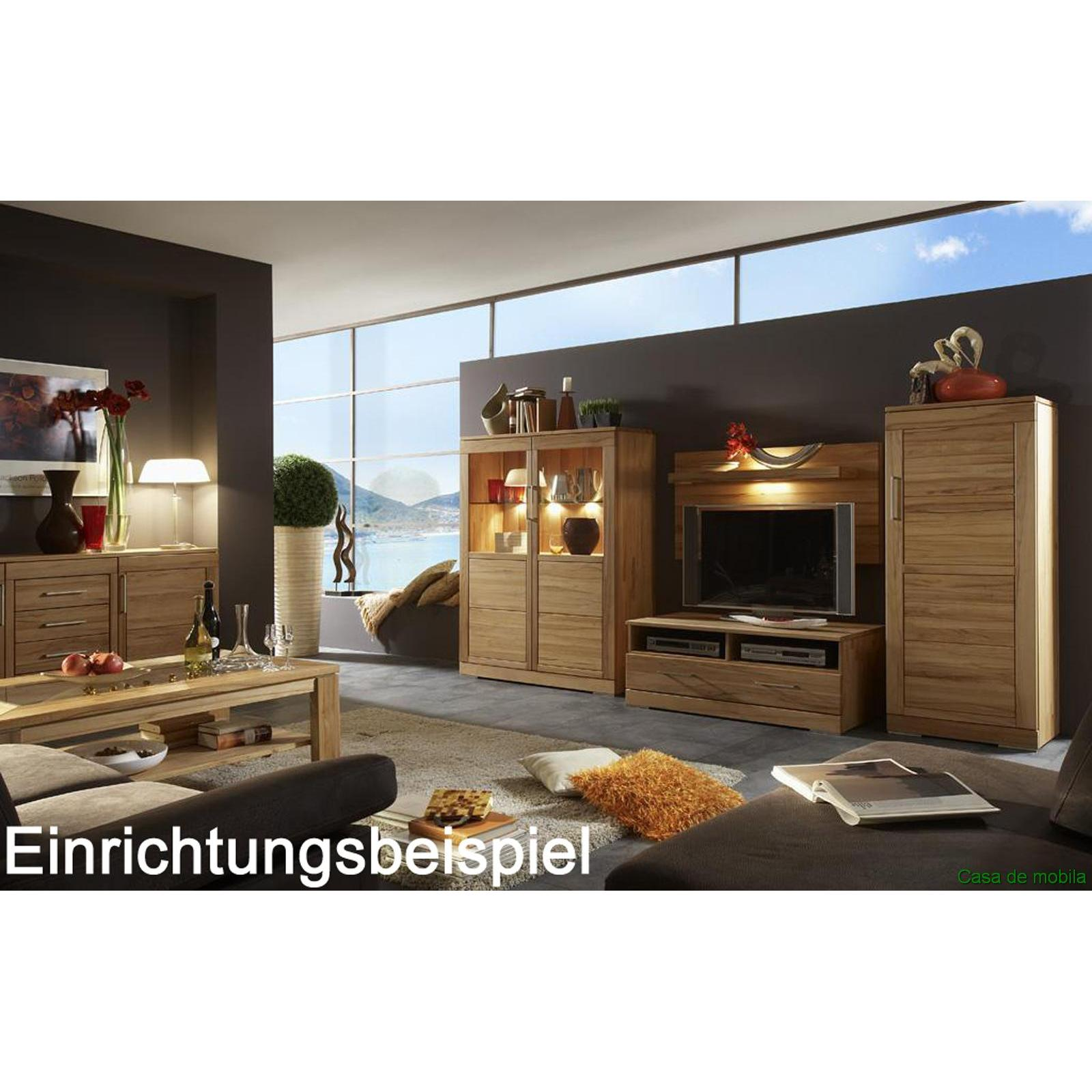 wohnzimmer schrank holz kernbuche massiv natur ge lt casera. Black Bedroom Furniture Sets. Home Design Ideas