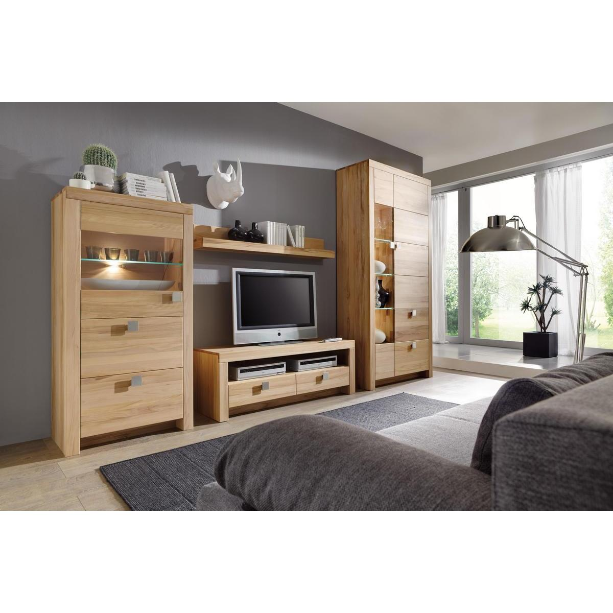 massivholz wohnwand messina kernbuche massiv ge lt. Black Bedroom Furniture Sets. Home Design Ideas