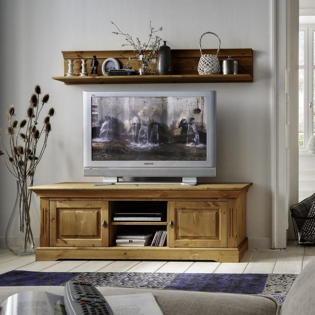 tv board 2 teilig kiefer massiv gelaugt ge lt landhaus windsor. Black Bedroom Furniture Sets. Home Design Ideas