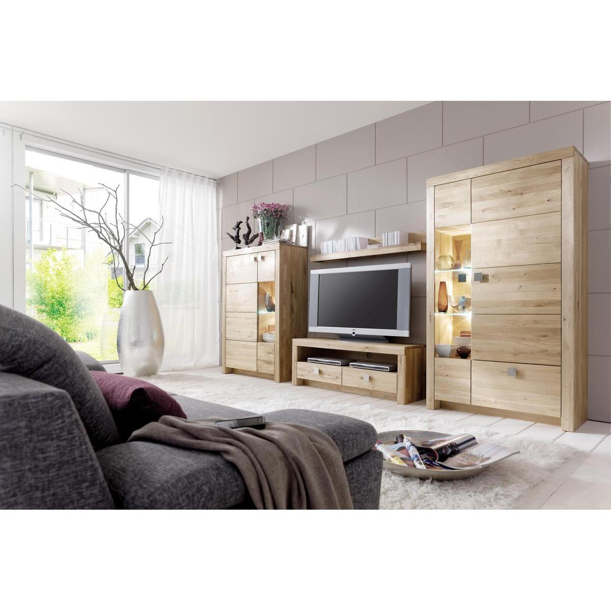 massivholz wohnwand messina wildeiche massiv ge lt. Black Bedroom Furniture Sets. Home Design Ideas