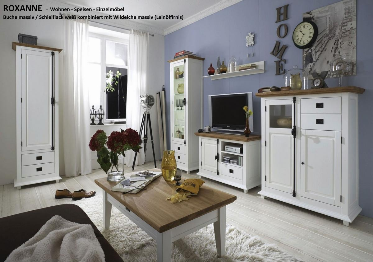 massivholz vitrine rechts buche wildeiche wei teilmassiv turm roxanne. Black Bedroom Furniture Sets. Home Design Ideas