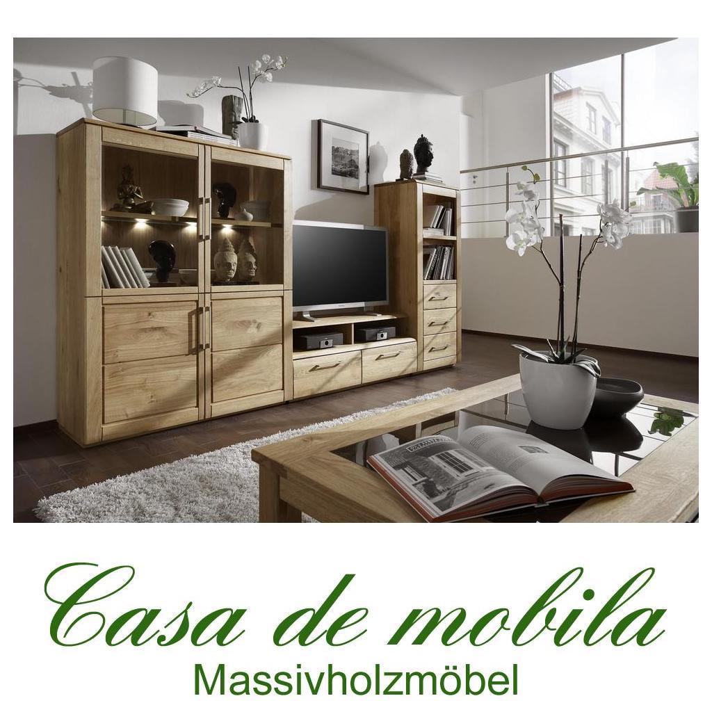 massivholz wohnzimmer 5-teilig oxford wildeiche massiv natur geölt