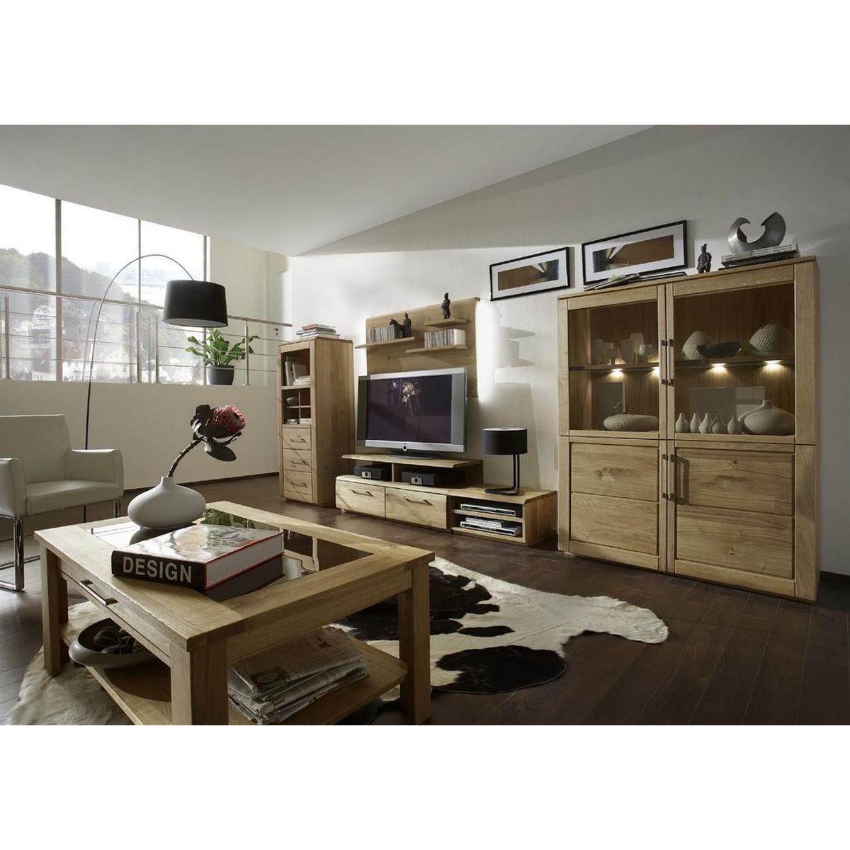 massivholz wohnzimmer 7-teilig oxford wildeiche massiv natur geölt