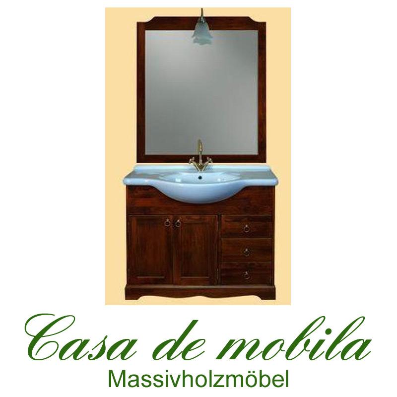 Italienische Badmöbel Badezimmermöbel braun nussbaum holz massiv ... | {Badezimmermöbel holz massiv 46}