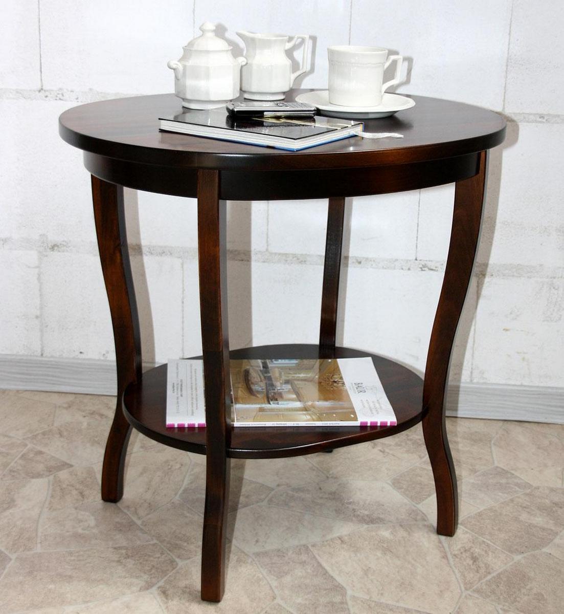 massivholz beistelltisch kolonial decor sofatisch oval nussbaum braun lackiert. Black Bedroom Furniture Sets. Home Design Ideas