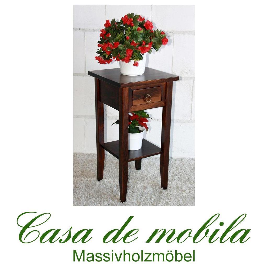 Blumenhocker Blumenständer Blumentisch 60 cm kolonial braun nußbaum