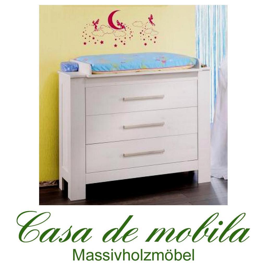 wickeltisch babykommode wickelkommode wei gewachst massiv holz kiefer. Black Bedroom Furniture Sets. Home Design Ideas