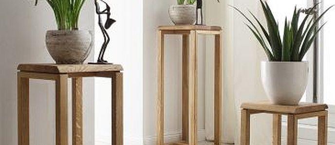 vollholz blumenst nder runden ihre einrichtung ab. Black Bedroom Furniture Sets. Home Design Ideas