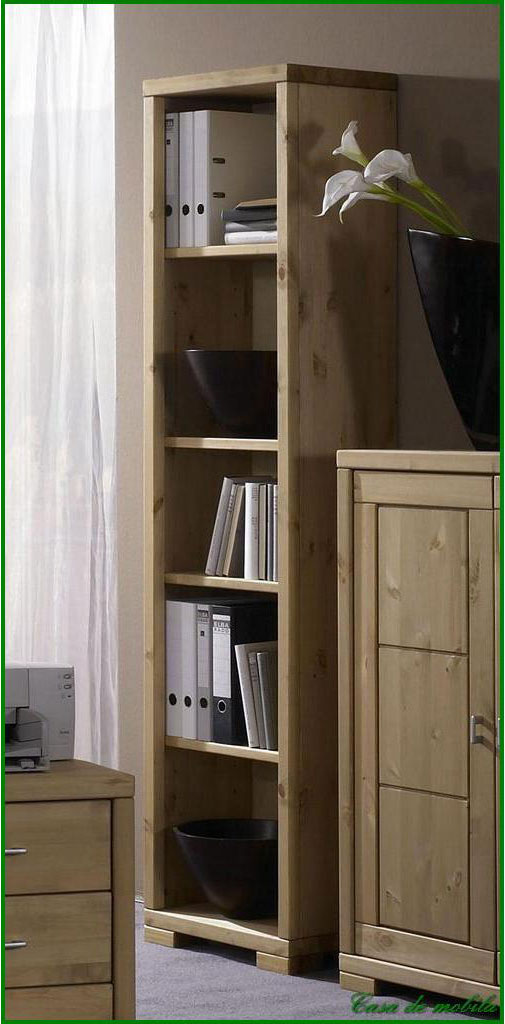 vollholz regal b cherschrank schmal kiefer massiv gelaugt ge lt. Black Bedroom Furniture Sets. Home Design Ideas