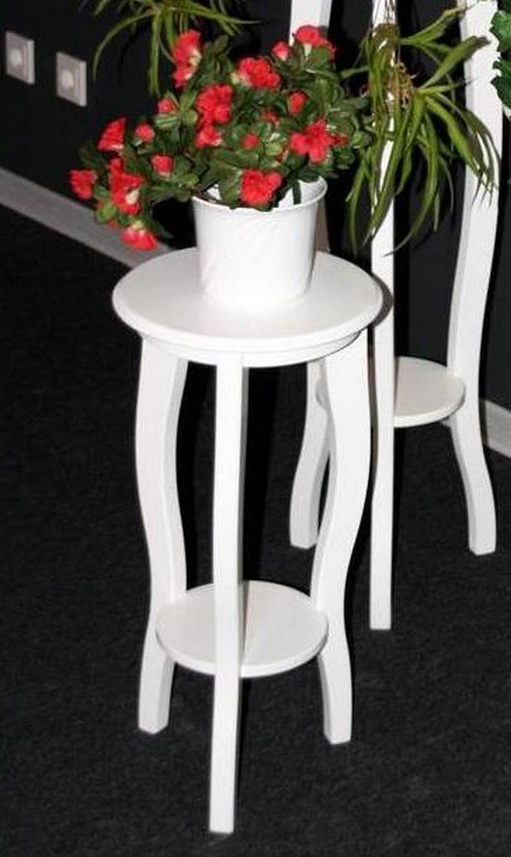 blumentisch blumenhocker blumenst nder rund wei lackiert 60 cm holz massiv. Black Bedroom Furniture Sets. Home Design Ideas