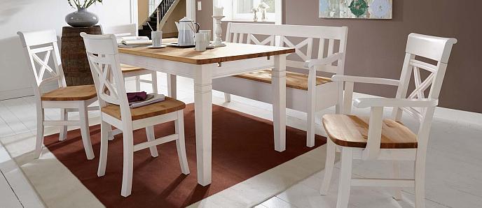 Esszimmer weiß  Landhausmöbel - Esstische, Stühle und Kastenmöbel in 5 ...