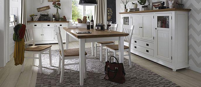 Wohnzimmer und Speisezimmer und Dielen-Möbel Roxanne aus Buche und ...