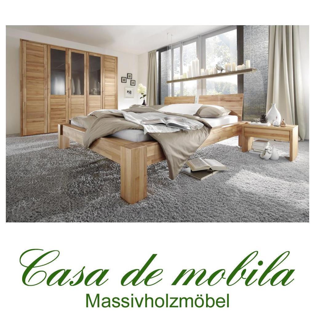 Echtholz Schlafzimmer komplett Kernbuche massiv HERCULES - Bett 160x200