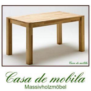 Massivholz Esstisch Tisch Kernbuche massiv geölt Vollholztisch Küchentisch FRITZ - 140x80