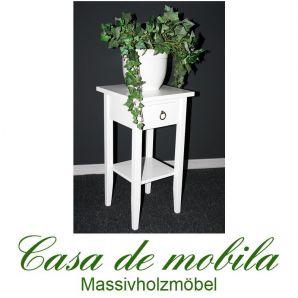 Massivholz Blumentisch Blumenhocker Blumenständer weiß 60 cm DECOR
