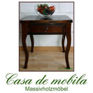 Massivholz Beistelltisch kolonial Blumentisch Telefontisch Arte Povera DECOR, Pappel massiv kolonialstil gebeizt lackiert