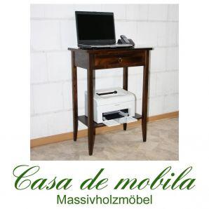 Massivholz Laptop Tisch Notebooktisch Druckertisch kolonial DECOR - 58x39, Pappel gebeizt lackiert