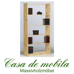 Massivholz Regal Bücherregal Kiefer massiv lackiert 84x170 Axel